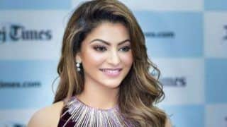 Urvashi Rautela Looks Hot And Gorgeous in Velvet Purple Dress as She Attends Event in France