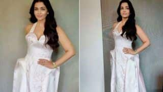 Aishwarya Rai Bachchan Poses in a Hot Lavender Gown With Plunging-Neckline, Check Pictures From Rome