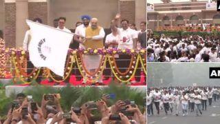 रन फॉर यूनिटीः अमित शाह ने एकता दौड़ को दिखाई झंडी, दिल्ली की सड़कों पर हजारों लोग दौड़े