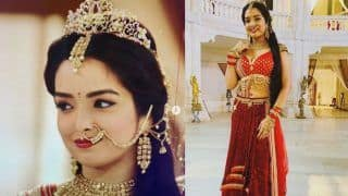 Bhojpuri Hot Sizzler Amrapali Dubey Looks Like Royal Queen in BTS Pics From Rajmahal