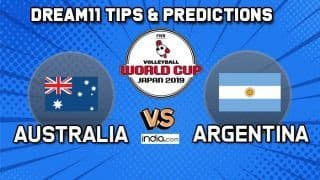 Dream11 Team Australia vs Argentina Volleyball World Cup