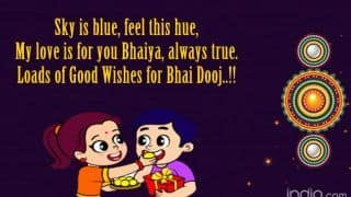 Happy Bhai Dooj 2019: 10 Best WhatsApp Status, Facebook Messages, Wishes, SMS, Images & DP to Wish Near And Dear Ones