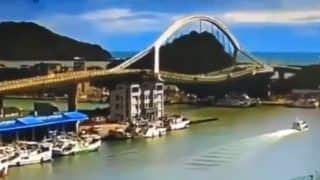 Chilling Video of Taiwan Bridge Collapsing and Crashing Into Water Goes Viral. Here's Why