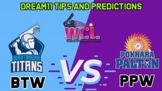 Live Cricket Score, Live Streaming, BTW vs PPW  Biratnagar Titans vs Pokhara Paltan  Women Champions League T20  Match 4