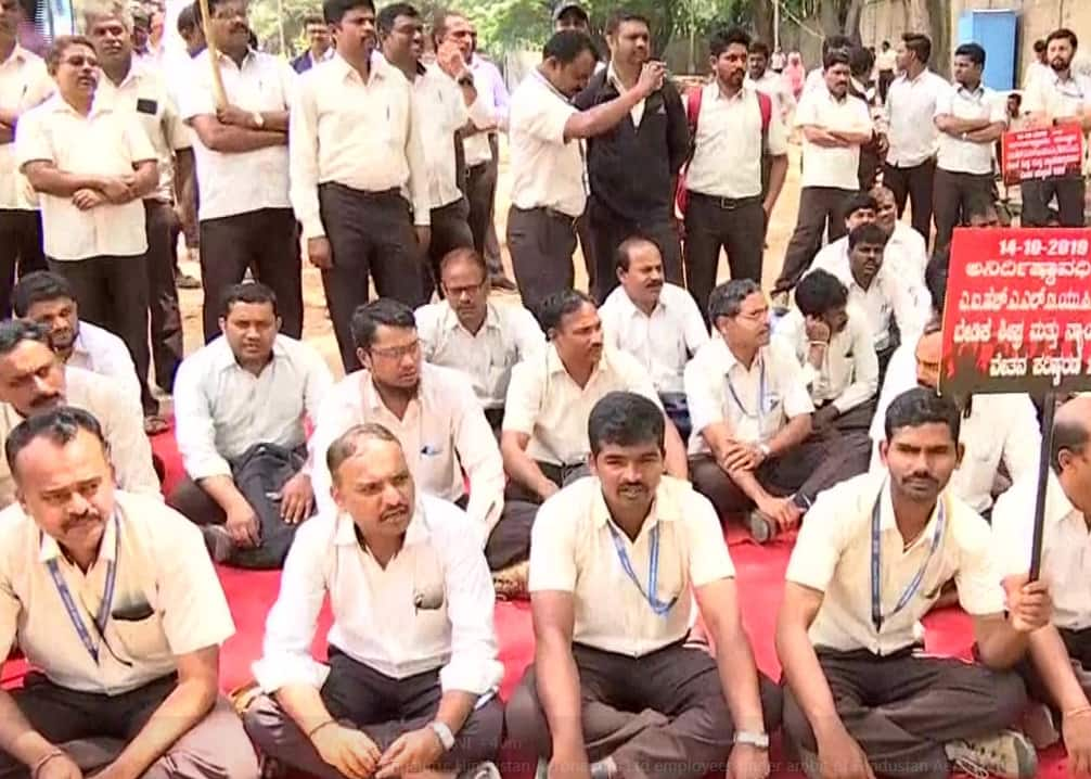 Image result for 10,000 HAL workers begins their Indefinite Strike