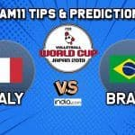 Dream11 Team Italy vs Brazil Match 64 FIVB Volleyball Men's World Cup 2019 – Volleyball Prediction Tips For Today's Match ITA vs BRZ in Hiroshima
