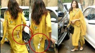 Janhvi Kapoor Gets Trolled After She Forgets to Remove Price Tag From Her Pretty Yellow Suit - Viral Video