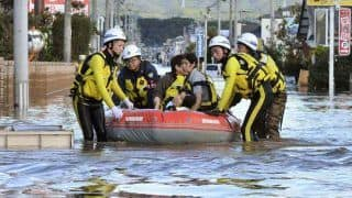 जापान में भयंकर तूफान और बाढ़ के बाद बचाव अभियान शुरू, लापता लोगों की तलाश जारी
