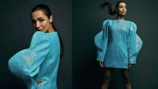 Malaika Arora is Being Little Bit Too Extra in These Blue Dramatic Sleeves, Take a Look