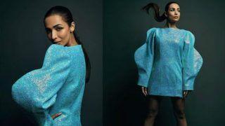 आसमानी रंग की शॉर्ट ड्रेस में मलाइका अरोड़ा का गजब अंदाज, चटक कपड़ों में चमक रही हैं