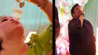 कपिल शर्मा की वाइफ गिन्नी के बेबी शावर में भारती की मस्ती, बच्चे की दूध वाली बॉटल से पिया पानी, नहीं रूकेगी हंसी