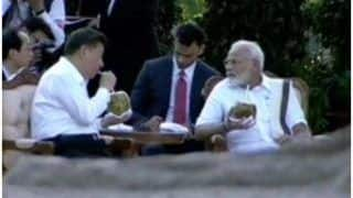 महाबलीपुरम में मोदी, शी ने सकारात्मक माहौल में की मुलाकात, नारियल पानी पीते हुए की वार्ता