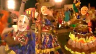 People Wear PM Modi-Masks While Performing Garba in Gujarat's Surat - Video Goes Viral