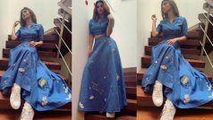 PICS: नीले रंग में रंगी मौनी रॉय, डेनिम स्कर्ट में गजब की हॉट दिख रही हैं