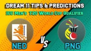 Dream11 Team Prediction Netherlands vs Papua New Guinea: Captain and Vice Captain For Today Match 27, ICC Men's T20 World Cup Qualifier:  Between NED vs PNG at Dubai 11:30 AM IST October 24