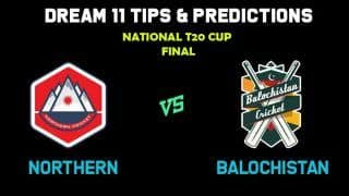 Live cricket score, ball by ball commentary, BAL vs NOR Balochistan vs Northern Pakistan T20 Cup National T20 Cup Final