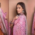 Nushrat Bharucha is Festive Ready in an Orange-Pink Combination Traditional Wear, See Pics