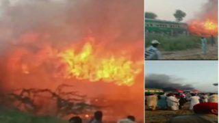 पाकिस्तान: ट्रेन में गैस सिलिंडर से खाना बना रहे थे यात्री, ब्लास्ट होने से लगी आग में 65 की हुई मौत