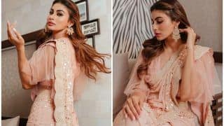 Mouni Roy Rocks Nude Saree Look This Dussehra, Viral Pictures Leave Fans Swooning Over Stunning Look
