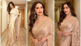 Madhuri Dixit's Sizzling Saree Game in Latest Viral Pictures Prove Why She Rules Tag of Timeless Beauty