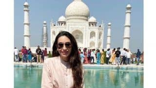 Karisma Kapoor Visits Taj Mahal For FIRST Time, Goes All Cliche While Getting Clicked in Lap of Royalty