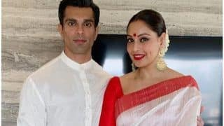 Bipasha Basu Can't Stop Blushing Over Karan Singh Grover's Mushiness During Sindoor Khela, Viral Video Will Make You go Awww