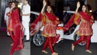 Sara Ali Khan's Short Anarkali by AJSK For Diwali Festivities Looks Absolutely Radiant And Youthful - Check Viral Photos