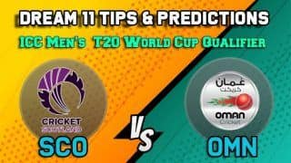 Dream11 Team Scotland vs Oman ICC Men's T20 World Cup Qualifier 2019 – Cricket Prediction Tips For Today's T20 5th-6th Place Playoff SCO vs OMN at Dubai October 31