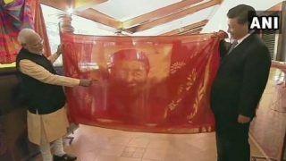 PM Modi Gifts Hand-woven Silk Potrait to Chinese President Xi Jinping