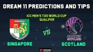 SIN vs SCO Dream11 Team Prediction: Captain And Vice Captain For Today Match 1, ICC Men's T20 World Cup Qualifier Between Singapore vs Scotland at Dublin 11:30 PM IST