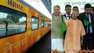 Uttar Pradesh: CM Yogi Adityanath Flags Off Lucknow-Delhi Tejas Express