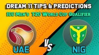 Dream11 Team Prediction United Arab Emirates vs Nigeria: Captain And Vice Captain For Today Match 28, ICC Men's T20 World Cup Qualifier:  Between UAE vs NIG at Abu Dhabi 11:30 AM IST October 24