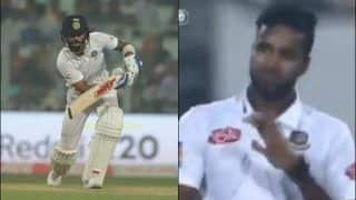 Pink-Ball Test: Virat Kohli's Cover Drive Applauded by Ebadot Hossain During Day/Night Test Between India-Bangladesh at Eden Garden is Unmissable | WATCH VIDEO