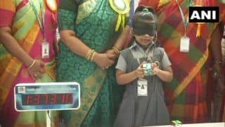 6-Year-Old Chennai Girl Solves Rubik's Cube Blindfolded, Declared 'World's Youngest Genius'