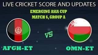 Afghanistan Emerging Team vs Oman Emerging Team Dream11 Team Prediction Emerging Asia Cup 2019: Captain And Vice-Captain, Fantasy Cricket Tips AFGH-ET vs OMN-ET Match 6 Group A at Sheikh Kamal International Cricket Stadium Academy Ground, Cox's Bazar 8:30 AM IST
