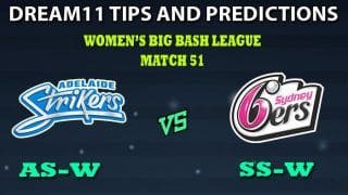 Adelaide Strikers Women vs Sydney Sixers Women Dream11 Team Prediction Women's Big Bash League 2019: Captain And Vice-Captain, Fantasy Cricket Tips MR-W vs MS-W Match 51 at Hurstville Oval, Sydney 8:30 AM IST