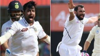 Cricket India vs Bangladesh 2nd Test: Abu Jayed Takes Tips From Mohammed Shami to Prepare For Pink-Ball Test at Eden Gardens, Kolkata