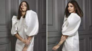 Anushka Sharma Glams it up in Sequenced White Dress at Karan Johar's Party