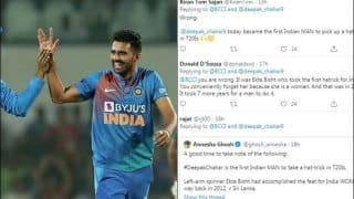 BCCI Face Flak After Tweeting Deepak Chahar as First Indian to Take Hat-Trick in T20Is, Fans Rectify Saying Ekta Bisht Was The One