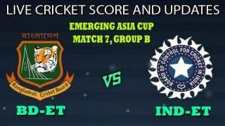 Bangladesh Emerging Team vs India Emerging Team Dream11 Team Prediction Emerging Asia Cup 2019: Captain And Vice-Captain, Fantasy Cricket Tips BD-ET vs IND-ET Match 7 Group B at Bangladesh Krira Shikkha Protisthan No 3 Ground, Savar 8:30 AM IST