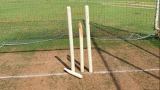 Jasprit bumrah breaks stumps during net practice share photo on twitter