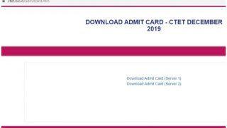 CTET Admit Card 2019: सीटीईटी एडमिट कार्ड जारी, सर्वर-1 व सर्वर-2 से ऐसे करें डाउनलोड