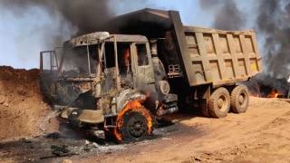 Naxals Set 9 Vehicles on Fire in Chhattisgarh's Dantewada Area