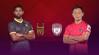 Hyderabad FC vs NorthEast United FC Dream11 Team Prediction Indian Super League 2019-20: Captain And Vice Captain, Fantasy Football Tips For Today's ISL Match 16 HYD vs NEUFC at G.M.C. Balayogi Athletic Stadium, Hyderabad 7.30 PM IST