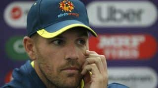 Australian captain aaron finch has been substituted during sheffield shield match after taking hit to helmet