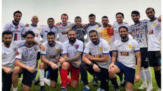 क्रिकेट से बैन के बाद फुटबॉल का लुत्फ उठा रहे शाकिब अल हसन