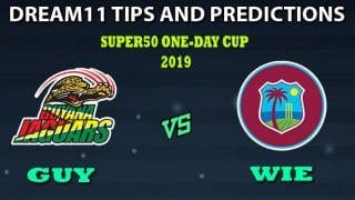 Guyana vs West Indies Emerging Dream11 Team Prediction Super50 Cup 2019