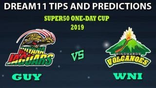GUY vs WNI Dream11 Team Prediction Super50 Cup 2019