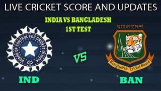Live Score and Updates: India vs Bangladesh, 1st Test, Indore, Day 1