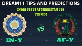 India U19 vs Afghanistan U19 Dream11 Team Prediction Afghanistan Under-19s tour of India 2019/20: Captain And Vice-Captain, Fantasy Cricket Tips IN-Y VS AF-Y 5th ODI at Ekana Stadium, Lucknow 9:00 AM IST